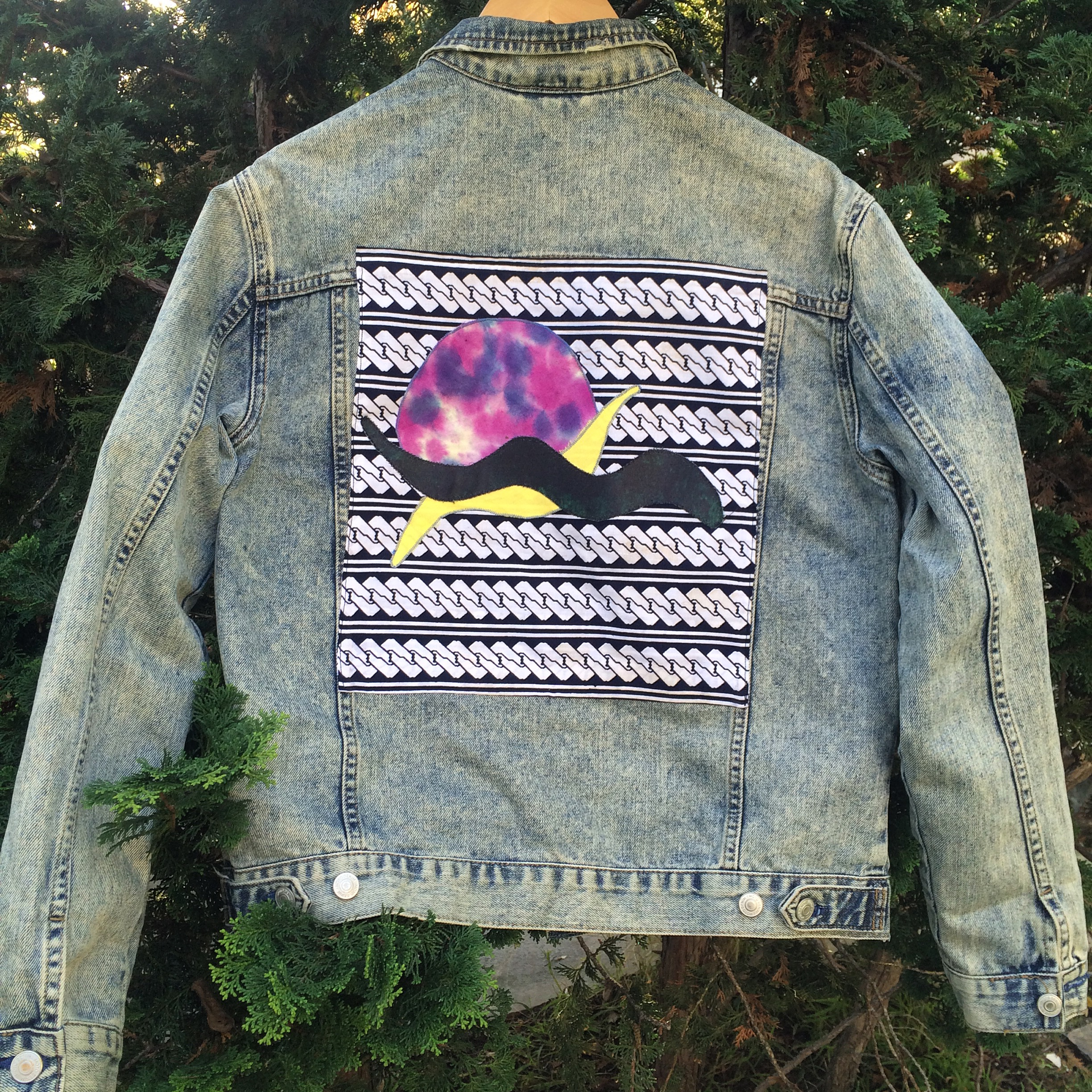 hand painted denim jacket